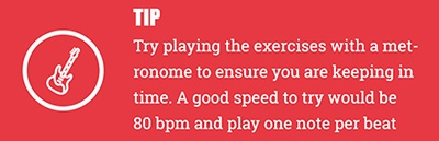 Red box displaying tip for practising exercises